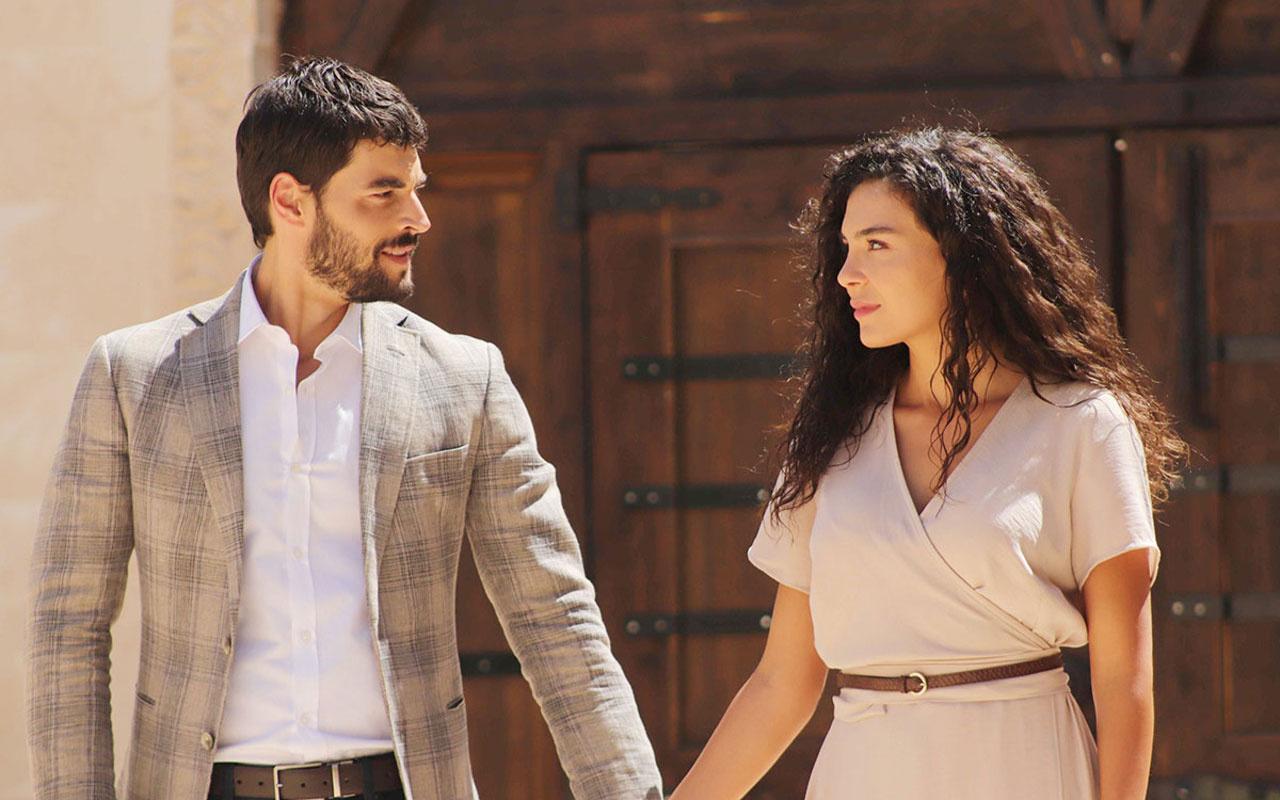 Hercai dizisine Ebru Şahin ve Akın Akınözü bakın nasıl veda ettiler dizi final yaptı