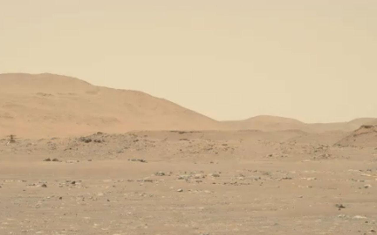 NASA mini helikopter ingenuity'nin Mars uçuşuna ait yeni görüntüler paylaştı