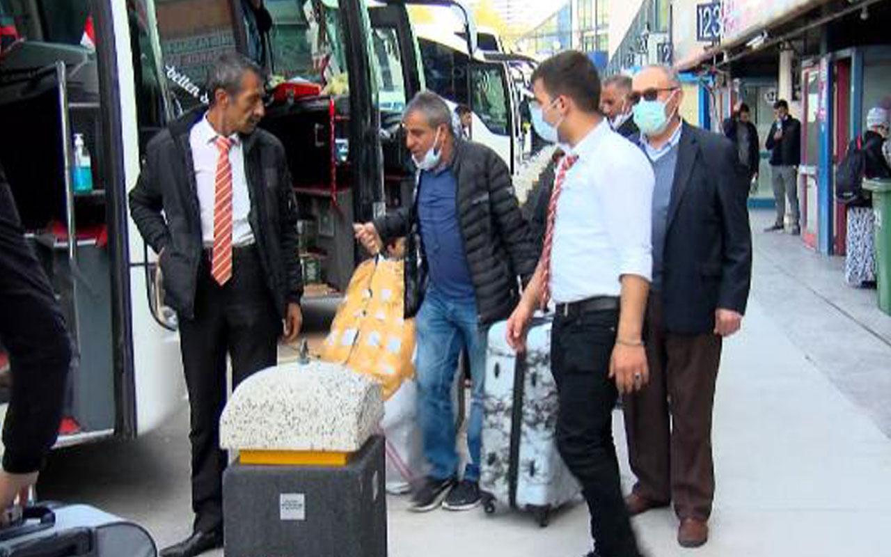 İstanbul'dan göç başladı! Otogarda bilet satış sistemleri kilitlendi