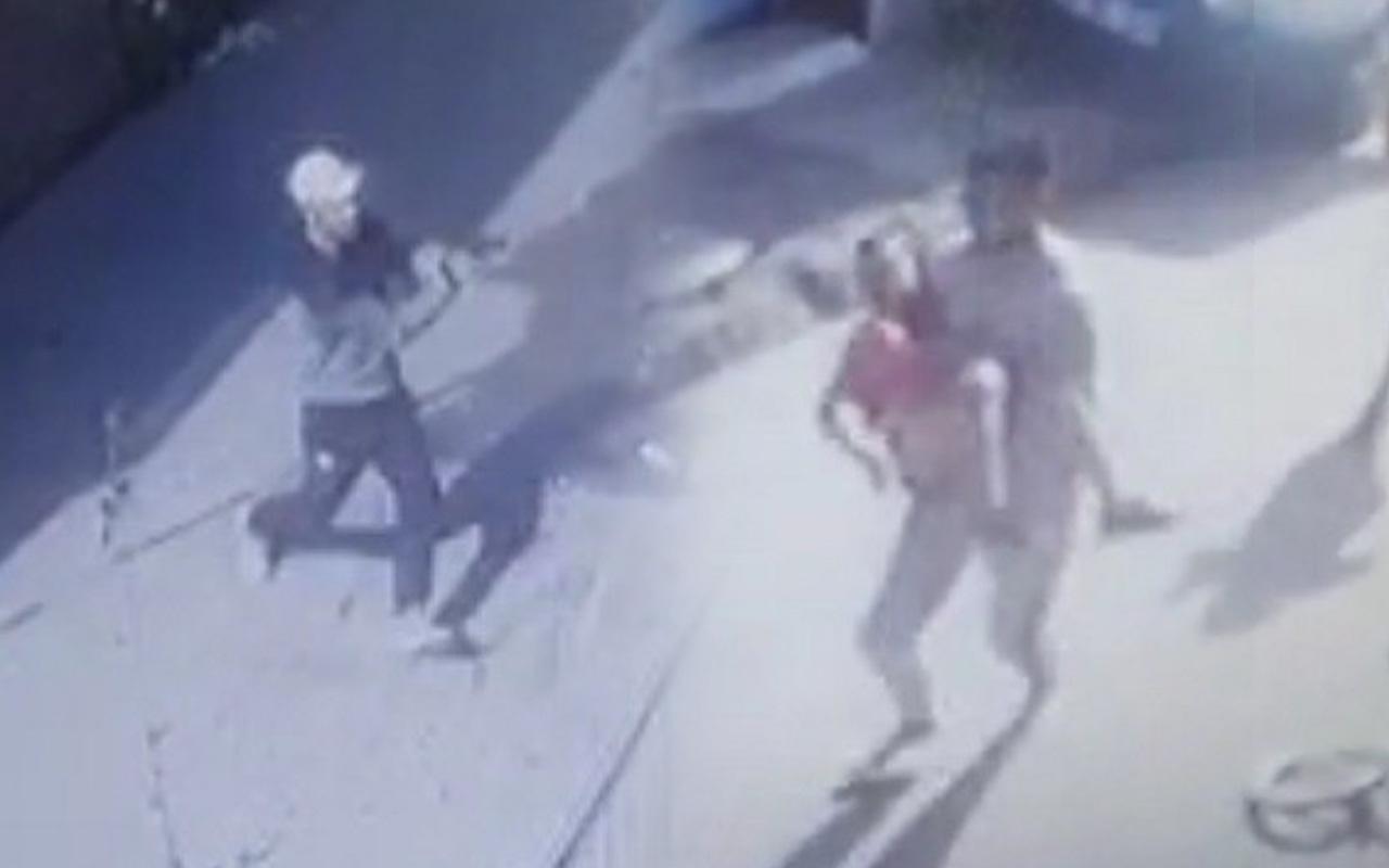 İzmir'de sokakta dehşet saçtı! 8 yaşındaki çocuk vuruldu işte o anlar