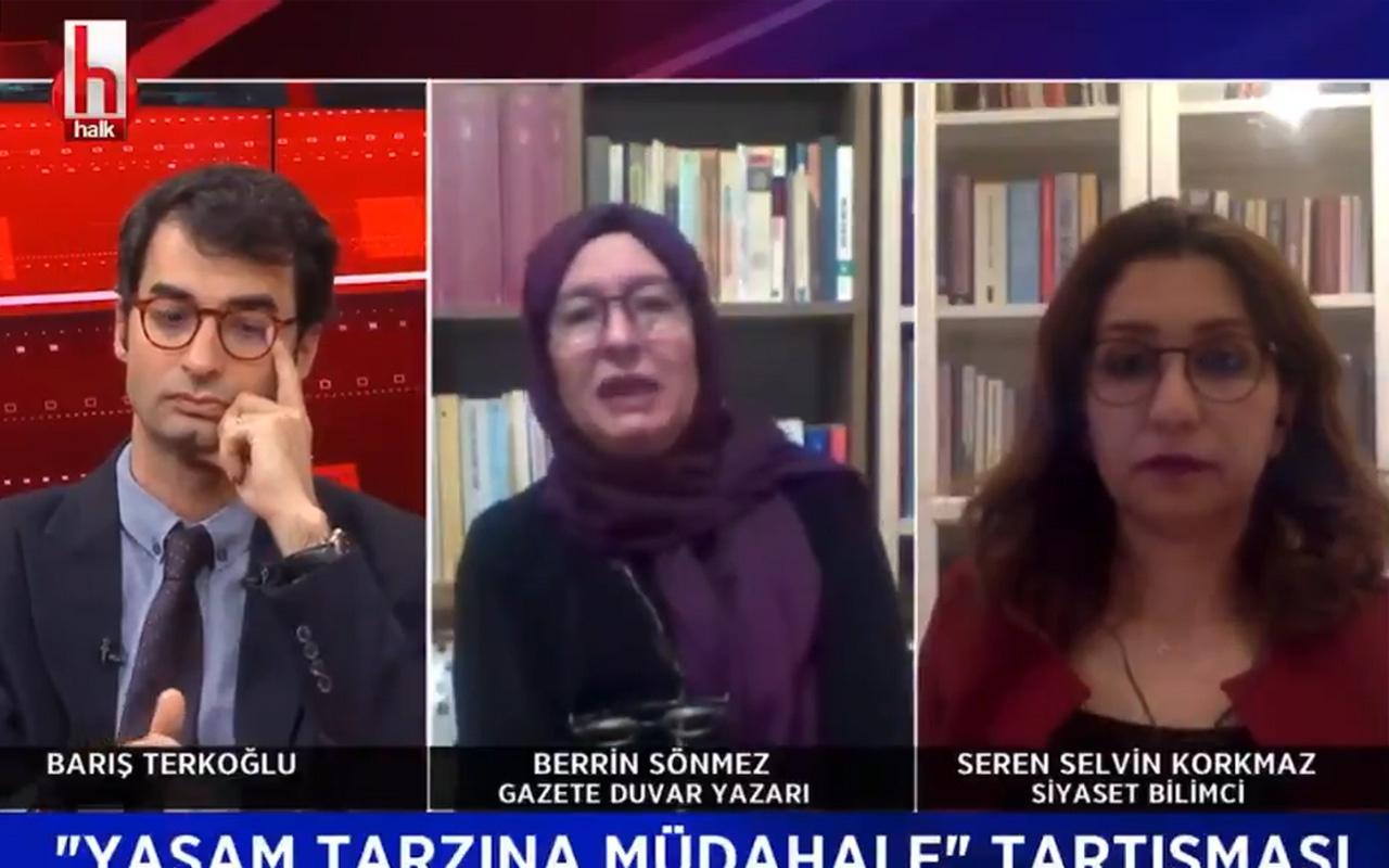Halk TV'nin canlı yayınında Berrin Sönmez'den skandal fetva: Alkol haram değildir