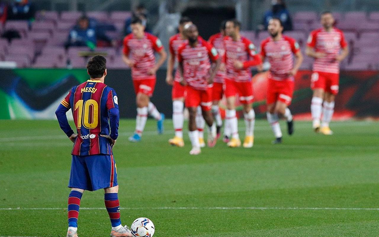 Barcelona liderlik için çıktığı maçta Granada'dan darbe yedi