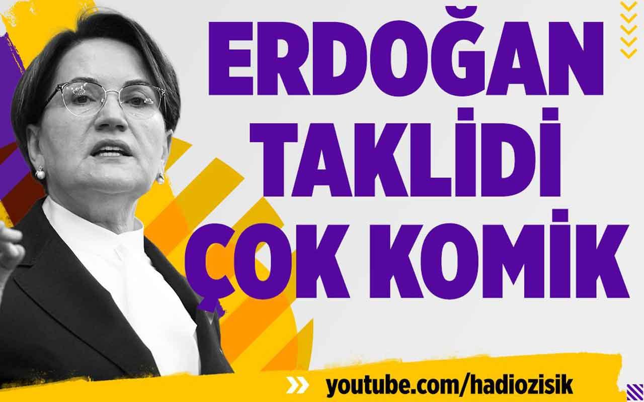 Meral Akşener'in Tayyip Erdoğan taklidine Metin Özkan'dan gülme garantili yorum!