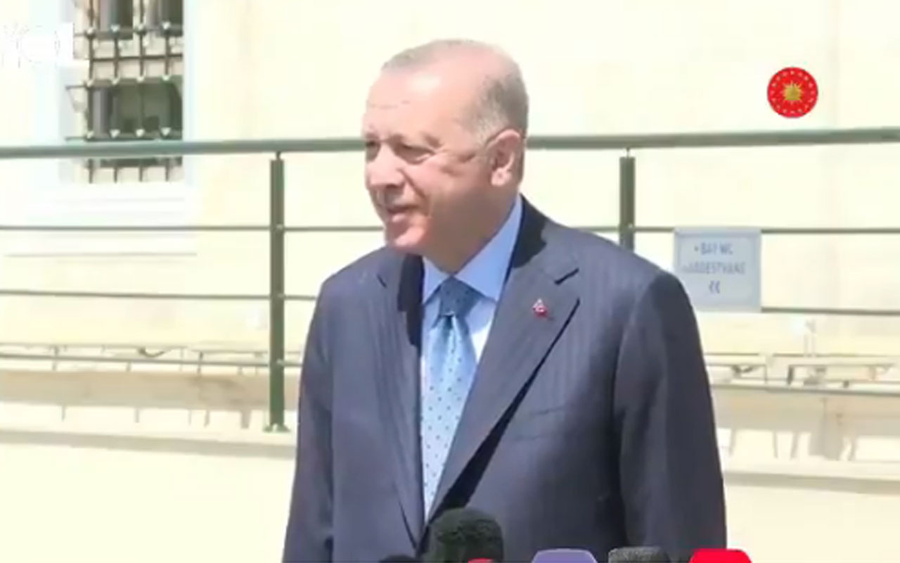 Cumhurbaşkanı Erdoğan'ın 'Tam kapanma döneminde İstanbul'da mısınız?'' sorusuna cevabı gündem oldu