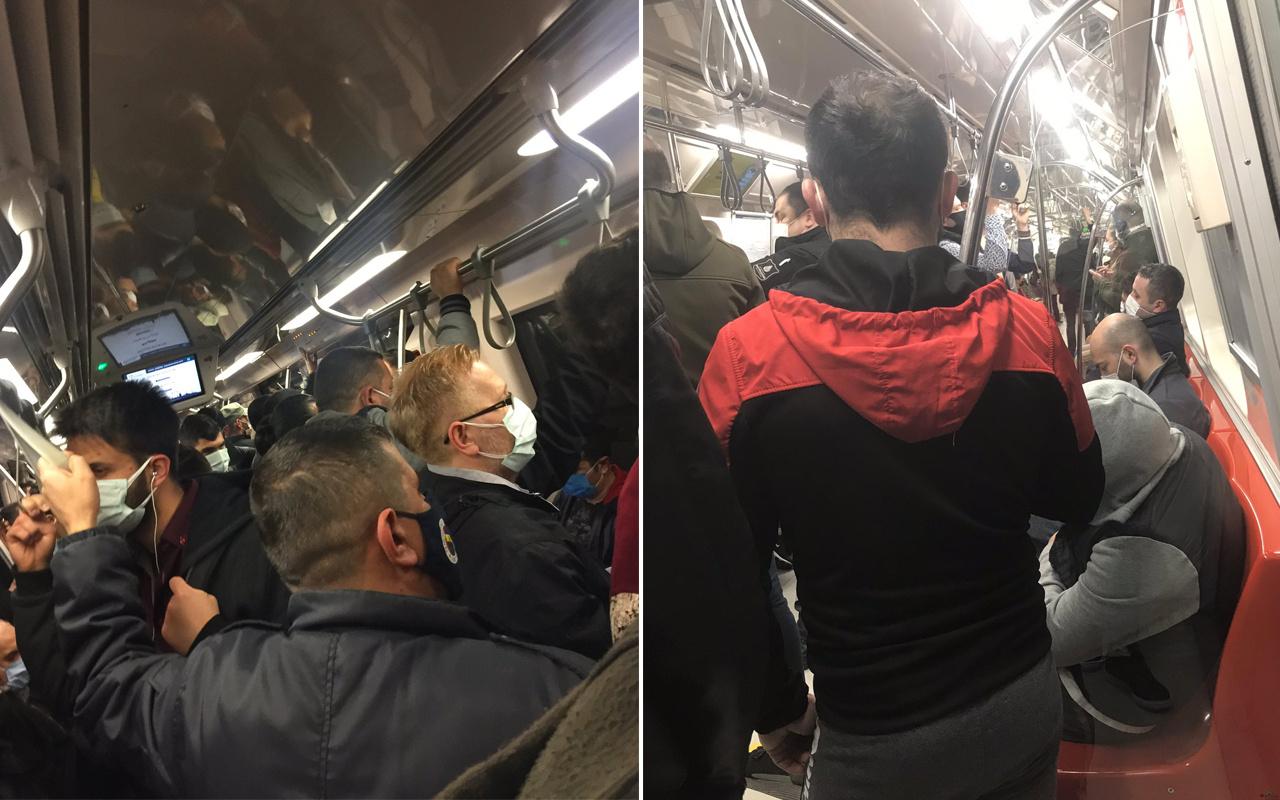 İstanbul'da tam kapanmada metro hatlarında yoğunluk yaşandı! Ek seferler düzenlendi
