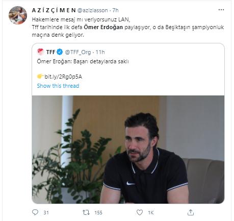 Twitter, 'Beşiktaş şike yaptı' iddiasıyla yıkıldı! Ömer Erdoğan'ın sözünde şike iması!