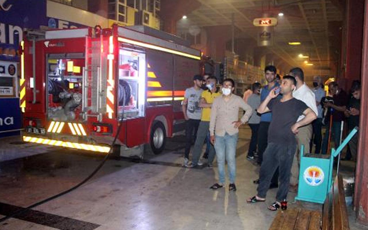 Adana Otogarı'nda yangın korkuttu