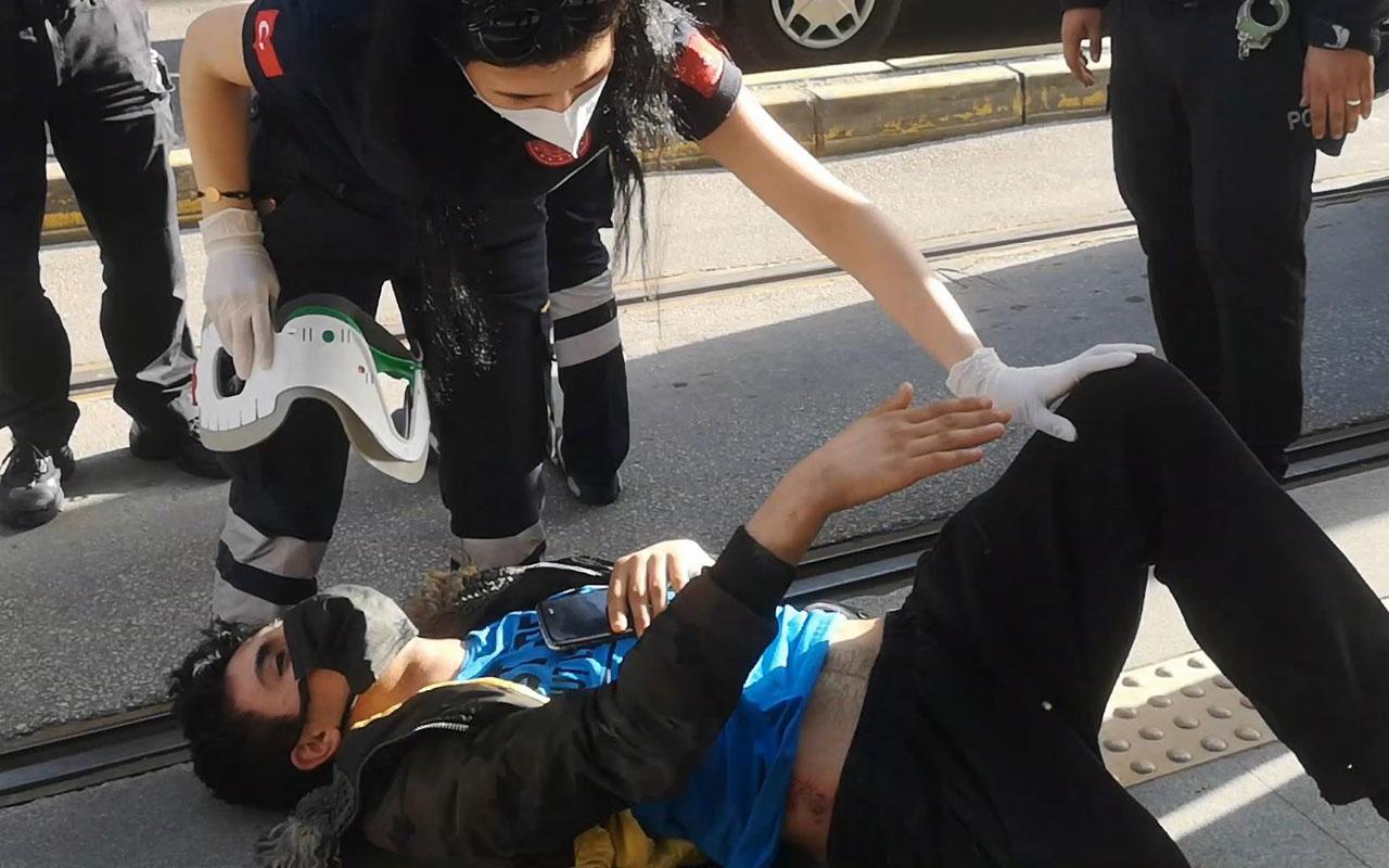Bursa'da kamyon çarptı yerde 'telefonum gitti ağabey mahvolmuş' diye feryat etti