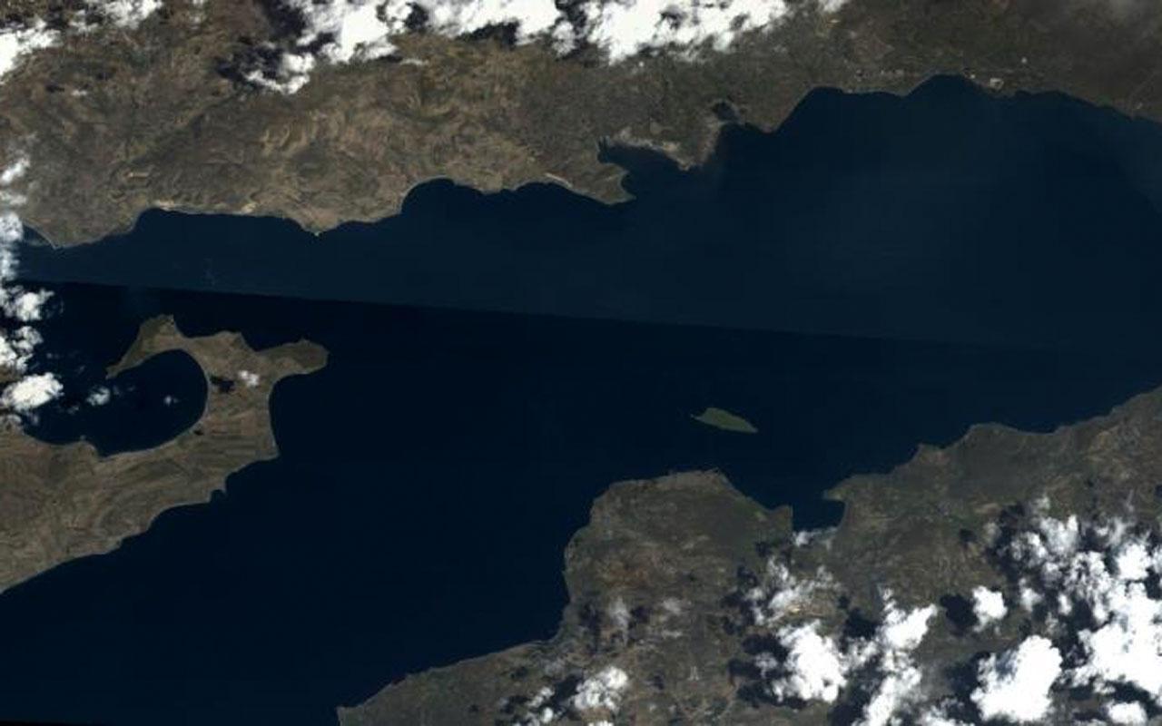 MSB Van Gölü'nün Göktürk uydusu tarafından çekilen fotoğrafını paylaştı