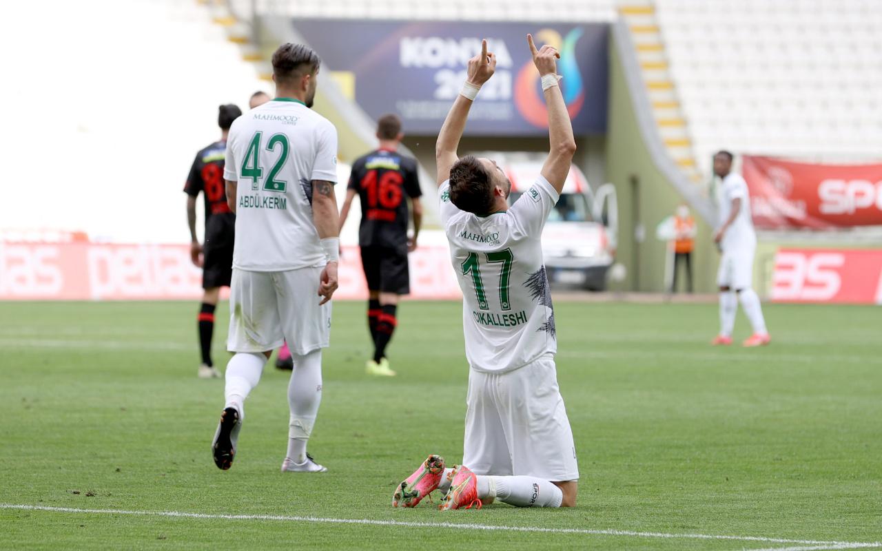 Konyaspor'dan Fatih Karagümrük'e gol yağmuru