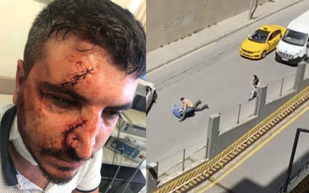 """Yol verme kavgasında taksiciyi """"Muşta"""" ile dövdü! Arkadaşları ortalığı savaş alanına çevirdi"""