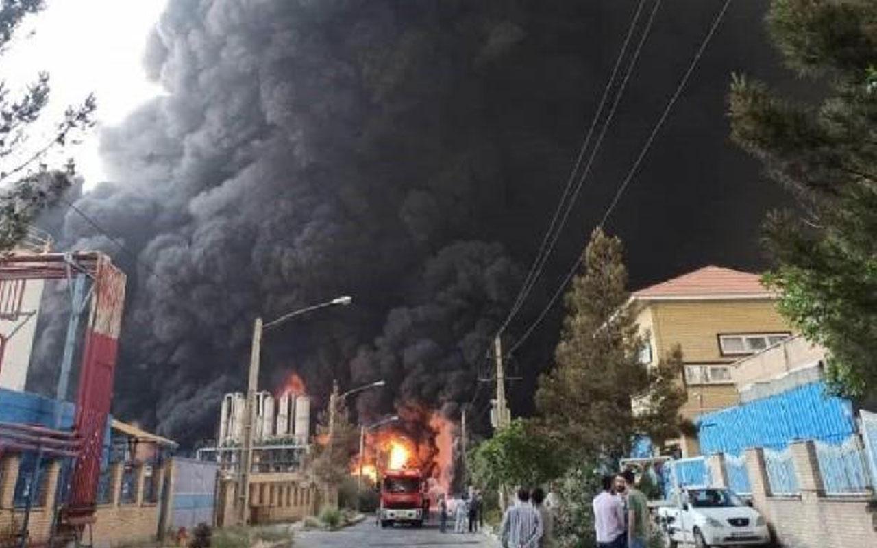 İran'da kimya fabrikasında yangın! Yaralılar var