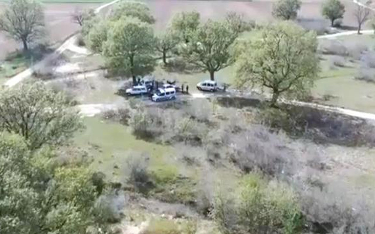 Kırklareli'den pes dedirten görüntü! Tam kapanmada piknik yapanlar drona yakalandı