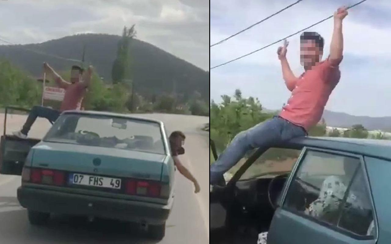 Antalya'da yolda yaptıkları pes dedirtti! Tepkiler sonrası çark etmesi fayda etmedi
