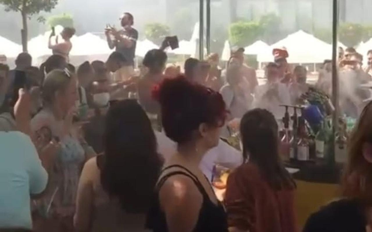 Antalya'da otelde hınca hınç koronavirüs partisi