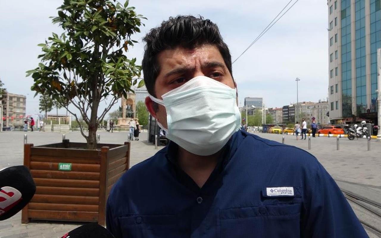Taksim'de polisten ikamet kartı bulunan turiste: Benim vatandaşım evde oturuyorsa...