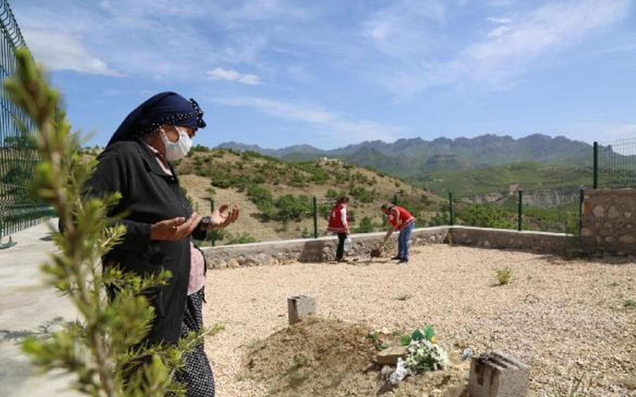 Tunceli'de kısıtlama nedeniyle eşinin mezarına gidemeyen kadına validen özel izin