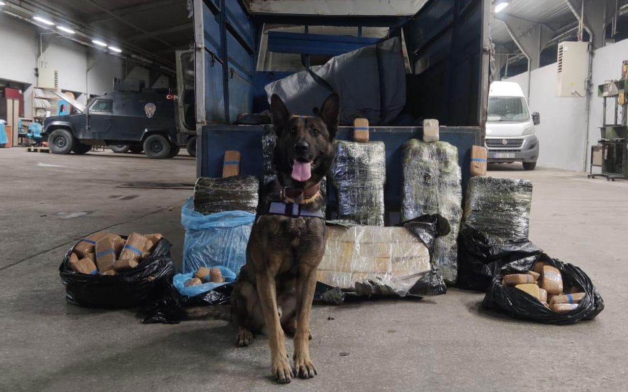 'Rexo' ile aramada araçta 216 kilo eroin bulundu
