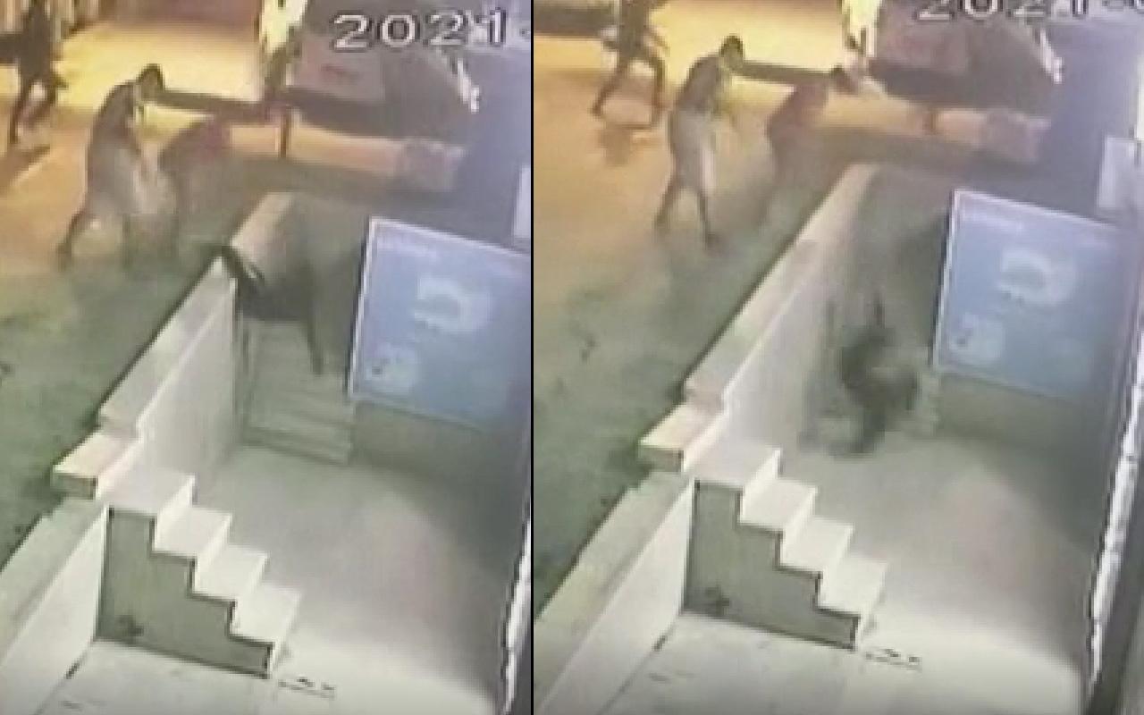 İstanbul'da dehşet anları! Sırtından bıçaklayıp aşağı fırlattılar