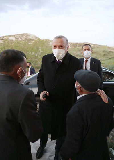 Başkan Erdoğan Dikmen ailesine misafir oldu