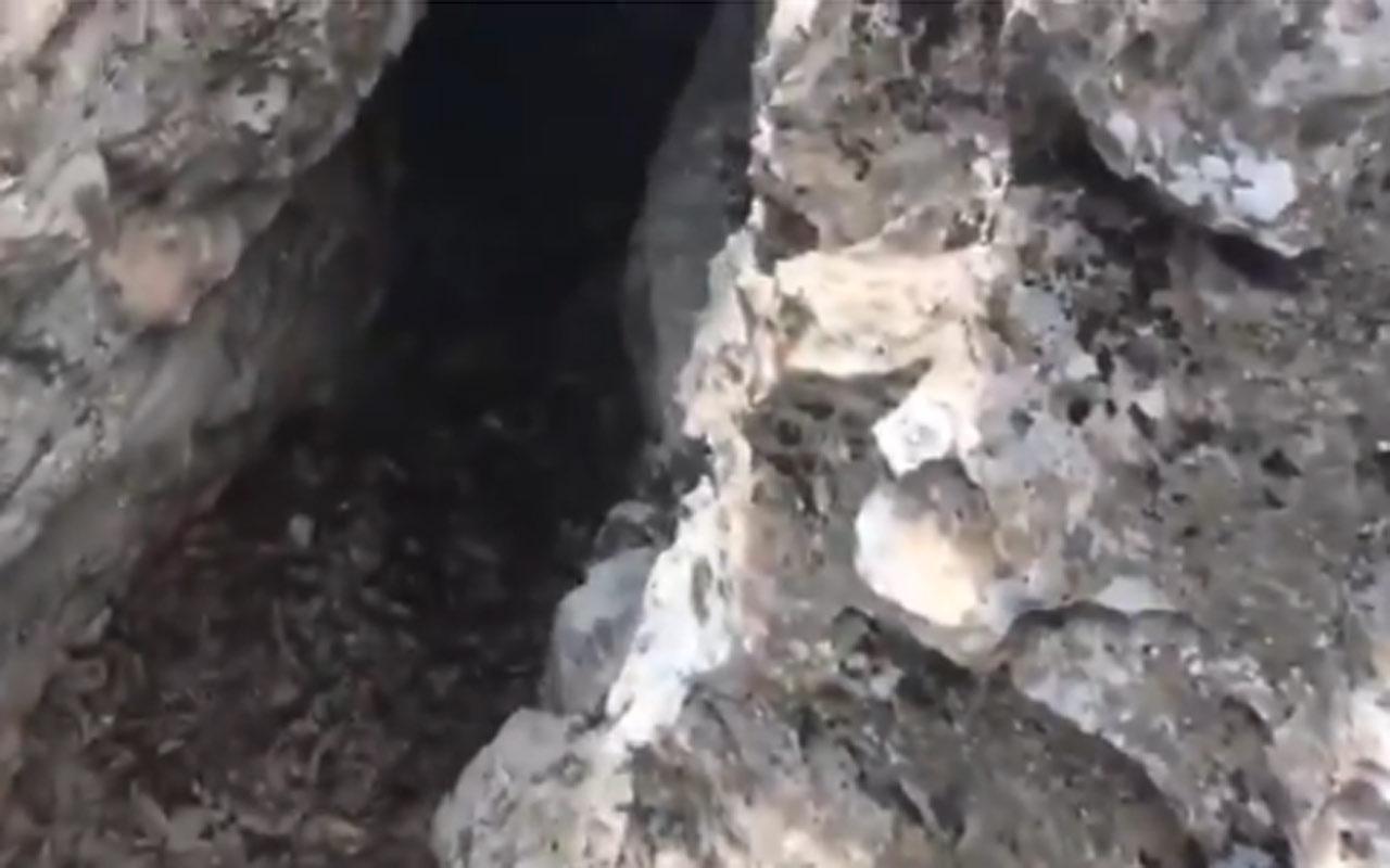 Milli Savunma Bakanlığı Irak'ta terörden temizlenen mağaranın görüntüsünü paylaştı