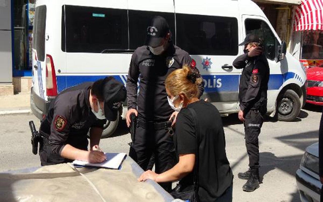 Edirne'de tam kapanma denetimi! Markete çocuklarıyla gidenlere ceza kesildi