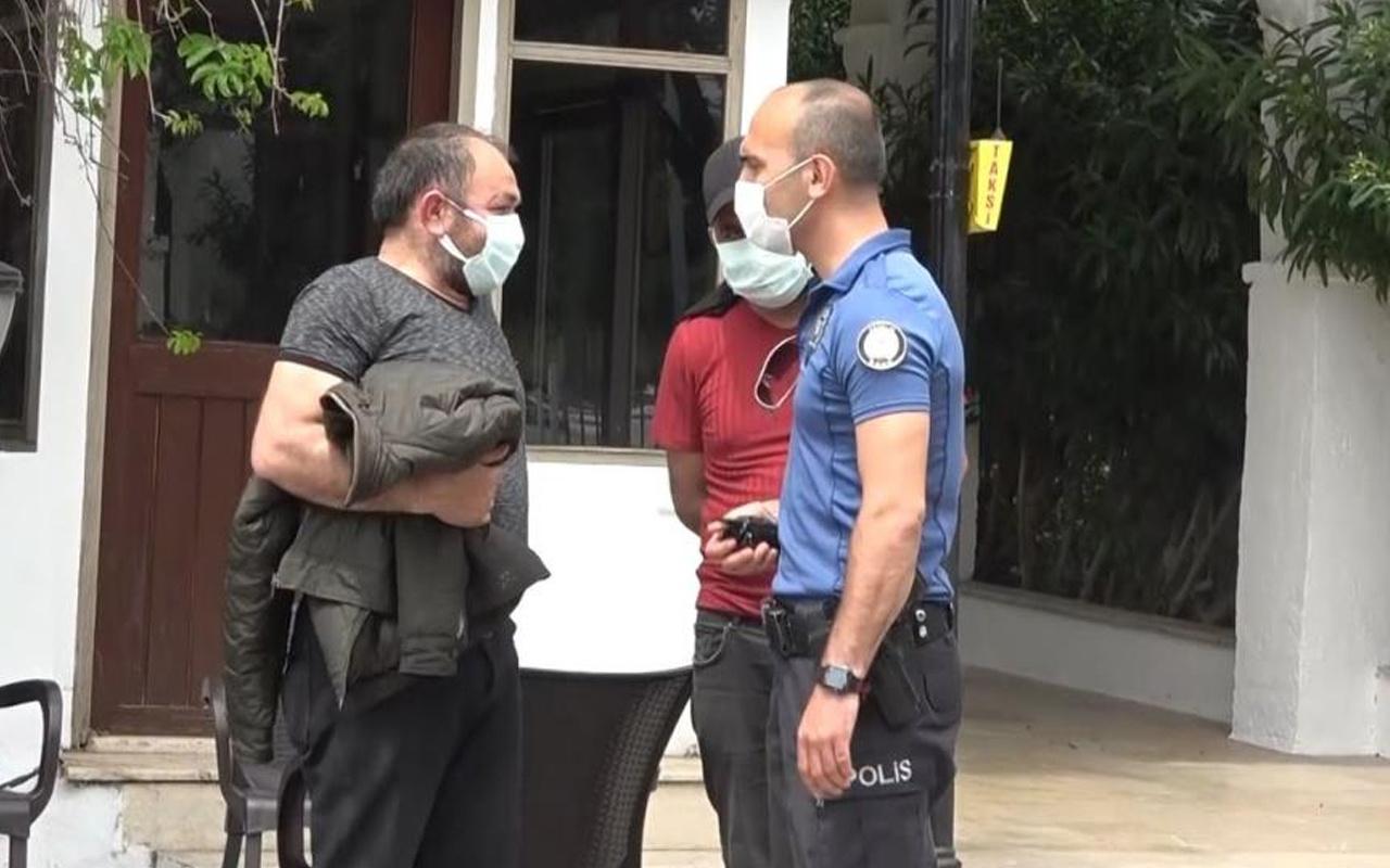 """Antalya'da belgesiz yakalanan şahıs """"Ceza kesemezsiniz"""" deyip polisi çileden çıkardı"""