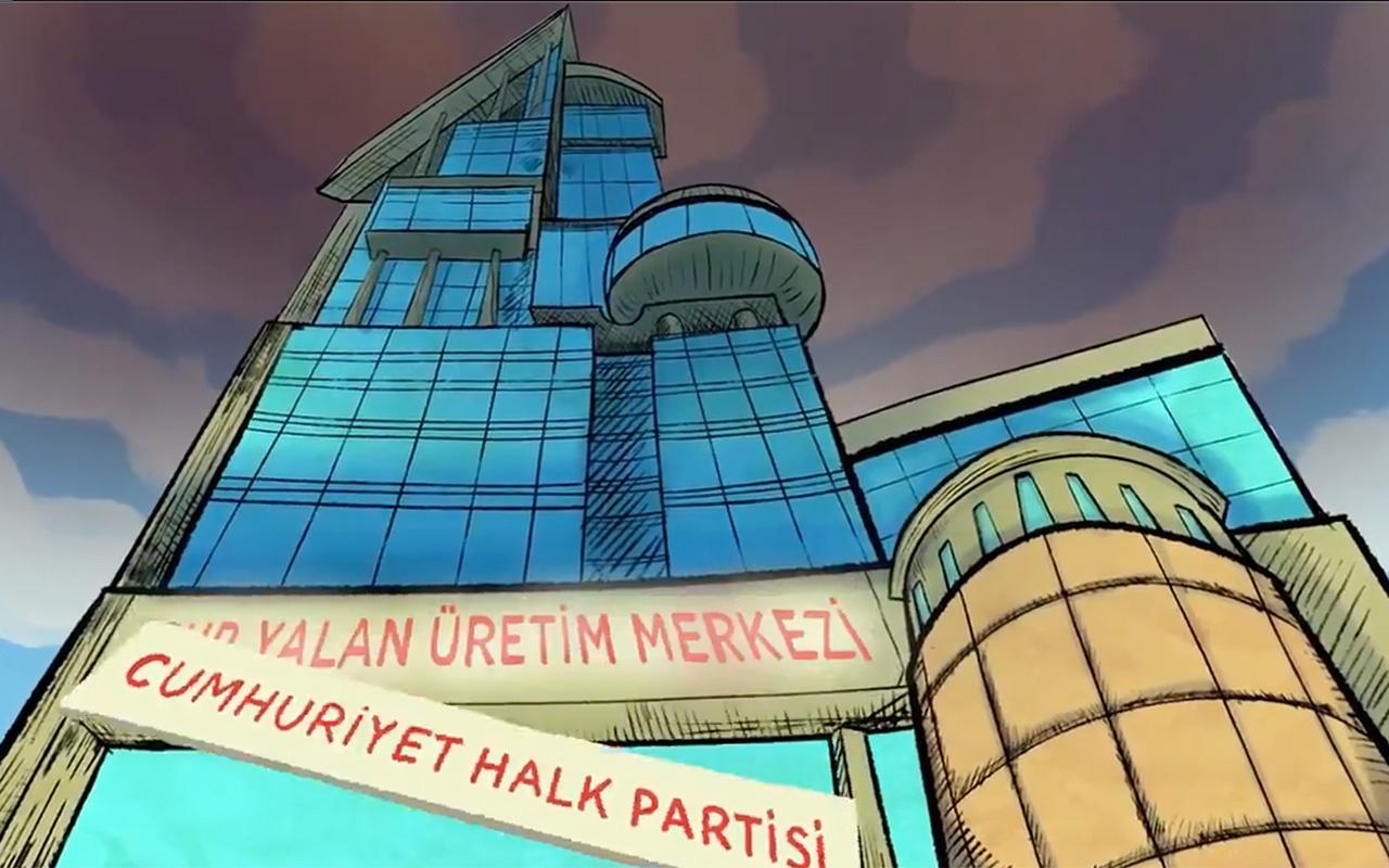 AK Parti'den olay CHP paylaşımı! 'CHP Yalan Üretim Merkezi' çizgi film oldu