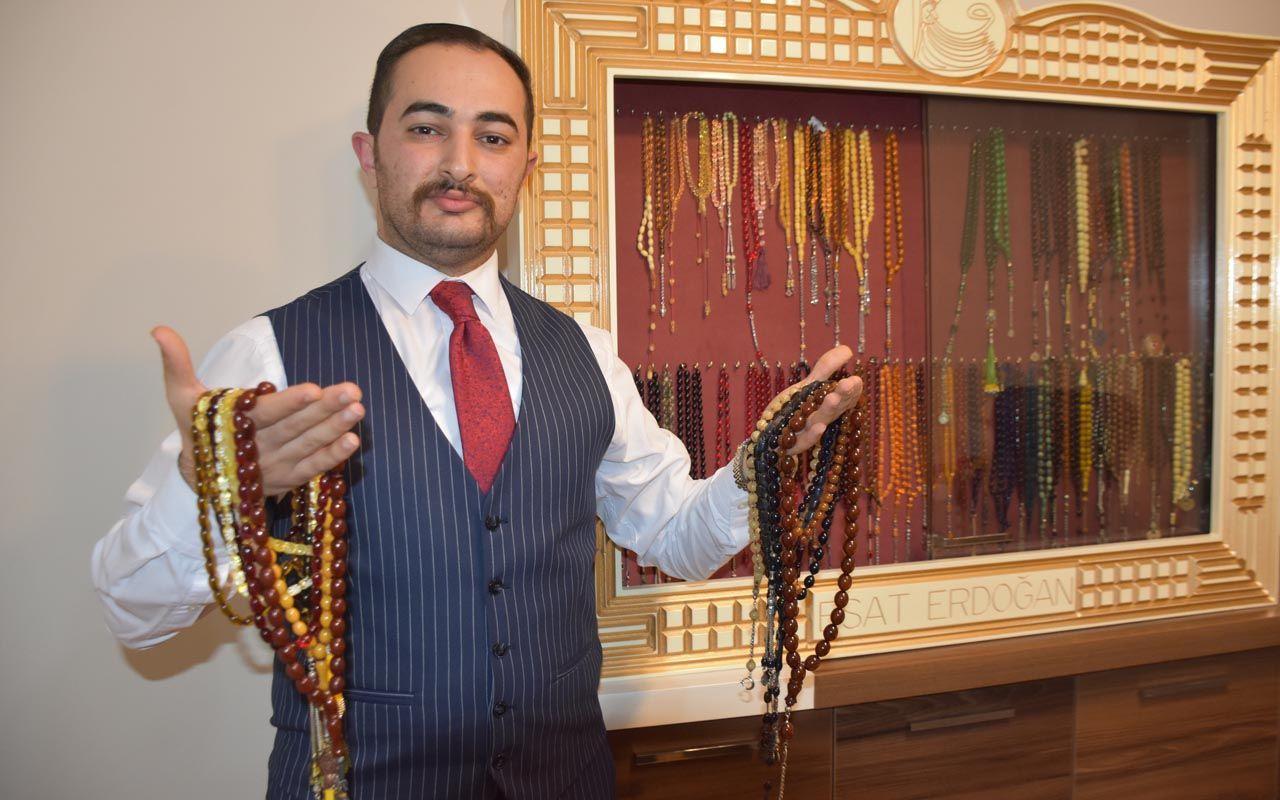Dedesi hediye etti biriktiriyor! Malatya'da tespih koleksiyonunun değeri şaşırttı