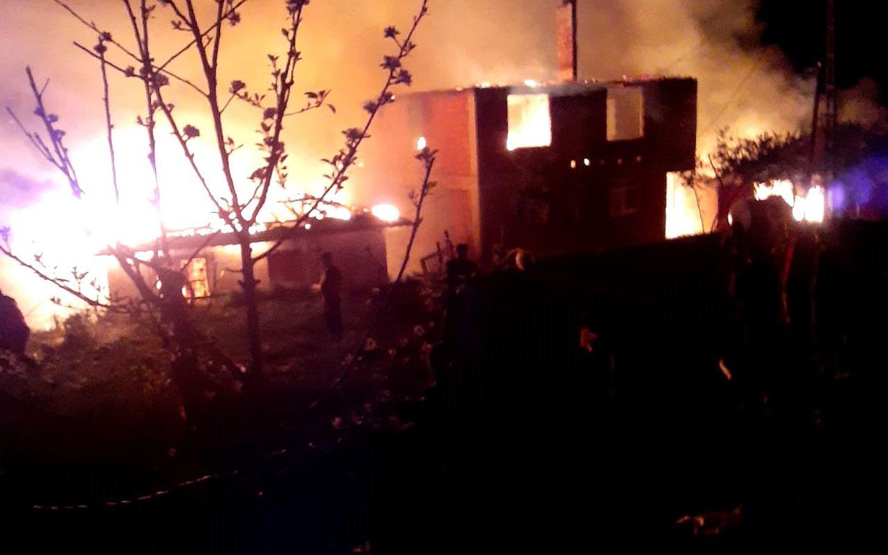 Kastamonu'da yıldırım 6 kardeşe ait 6 evi yakıp kül etti