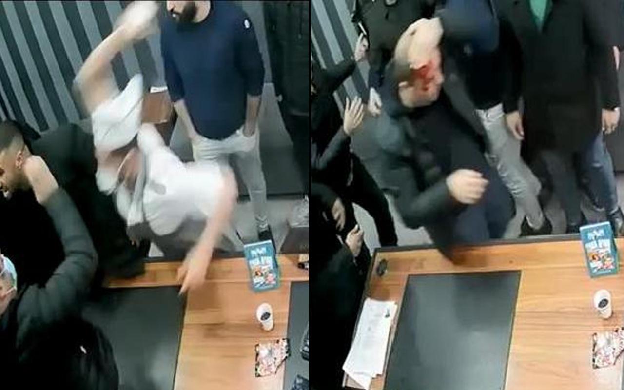 İstanbul'da tüyler ürperten saldırı! İş yerini basıp kafasına mermerle saldırdı
