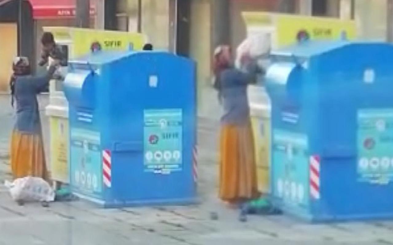 İstanbul'da pes dedirten görüntü! Çocuğu kumbaranın içine atıp boşalttı