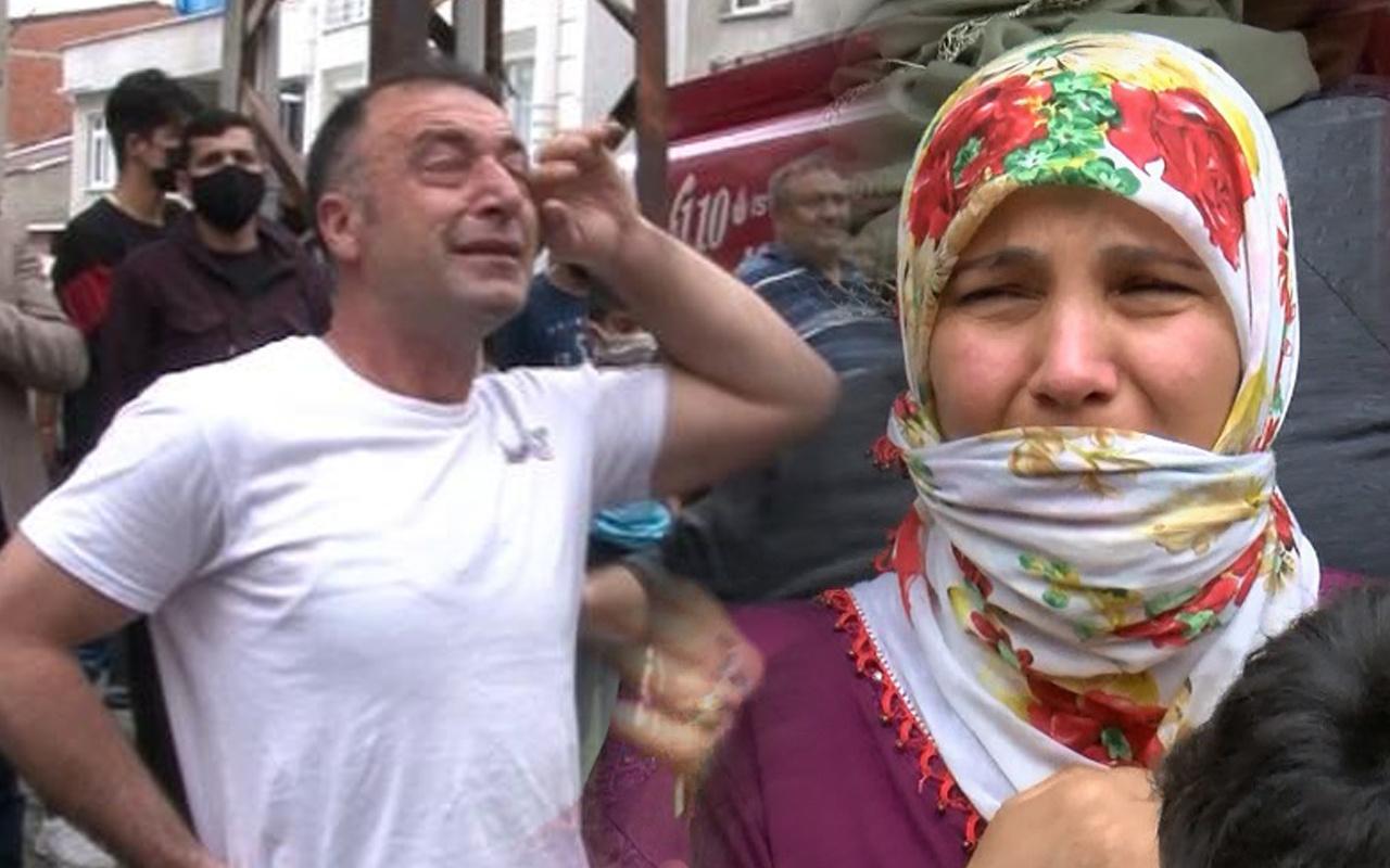 İstanbul'da yangından kaçıp kendilerini dışarı attılar! Gözyaşlarına boğuldular