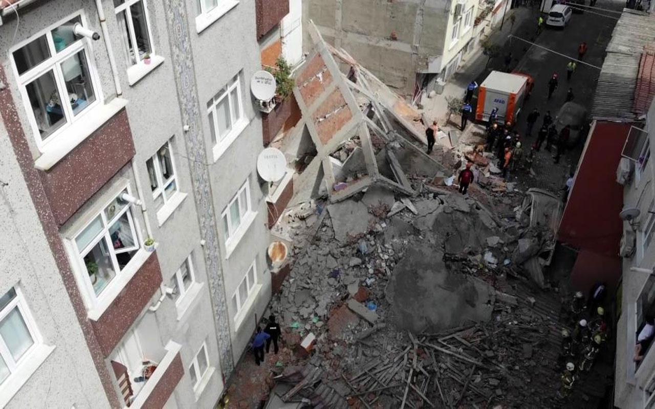 Zeytinburnu'nda 5 katlı bir bina çöktü! Araçlar enkaz altında kaldı