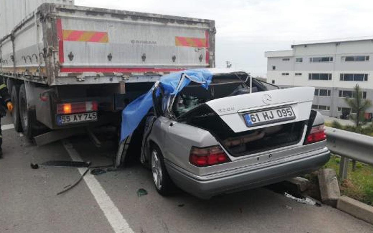 Yeni aldığı otomobille memleketine dönerken Ordu'da kaza yapıp öldü