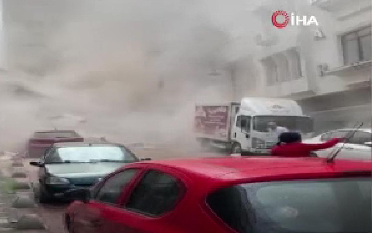 İstanbul Zeytinburnu'nda 5 katlı bina çöktü! İşte o anlar
