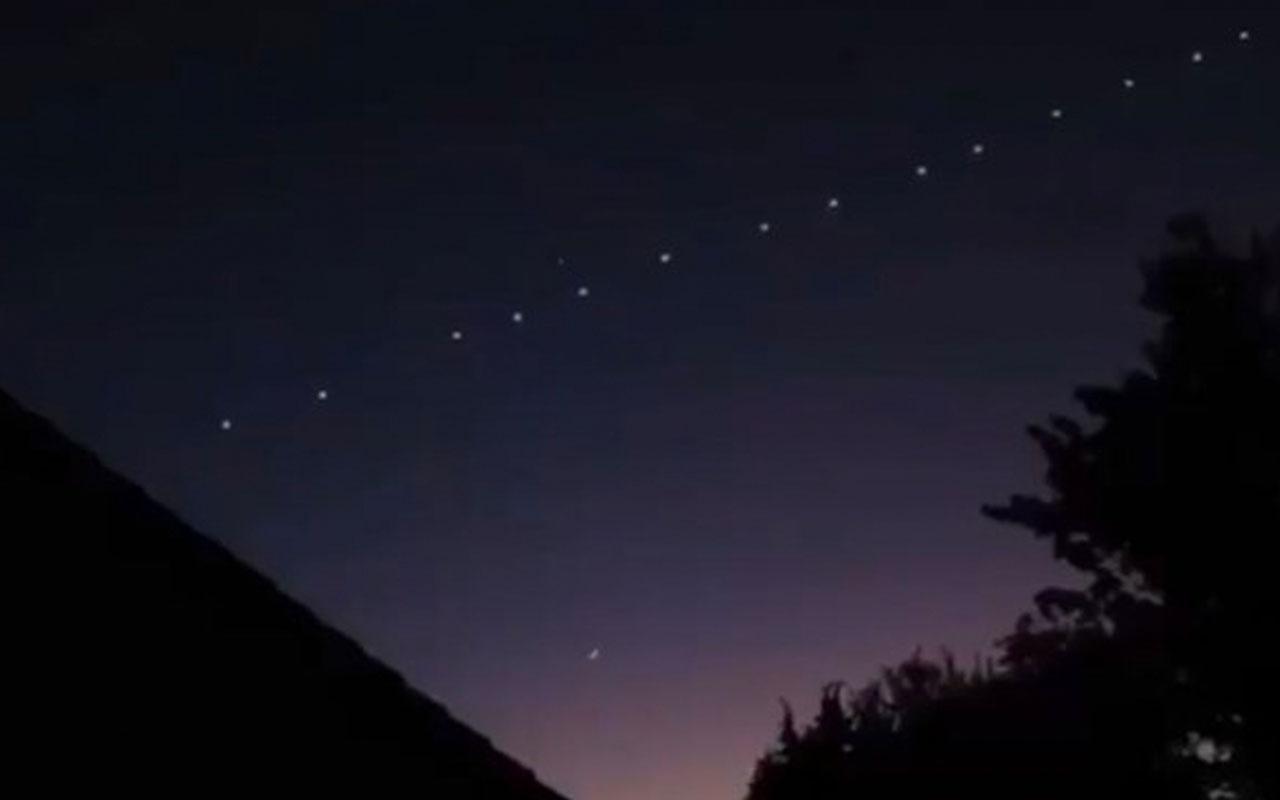 Gökyüzünde Starlink uyduları heyecana neden oldu! TUBİTAK'tan açıklama var