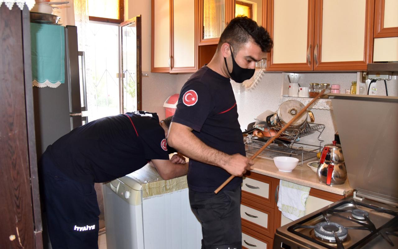 Antalya'da yemek yapmaya mutfağa gitti! Hayatının şokunu yaşadı