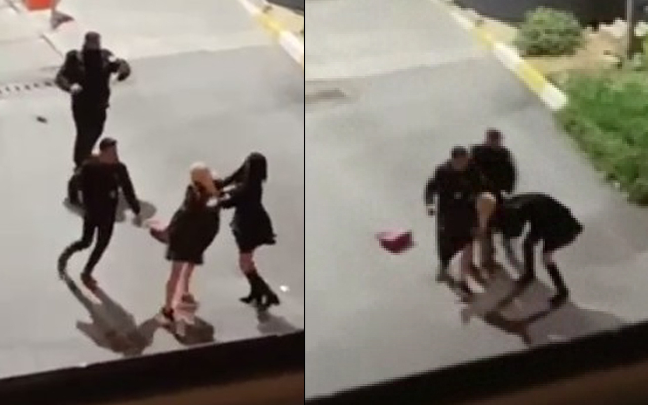 İstanbul'da kadınlar çılgına döndü saç baş kavga ettiler! Güvenlik görevlileri ayıramadı