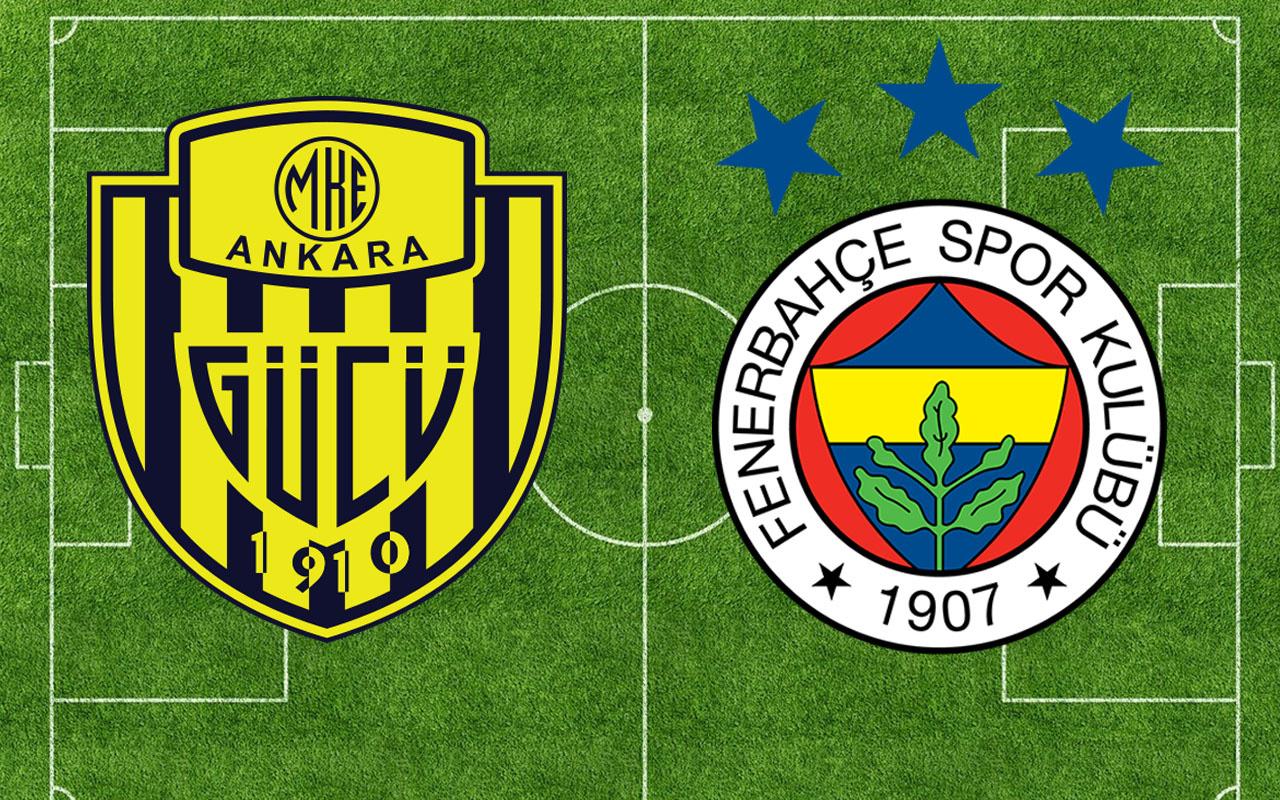Ankaragücü-Fenerbahçe Süper Lig maçı (Muhtemel 11'ler)