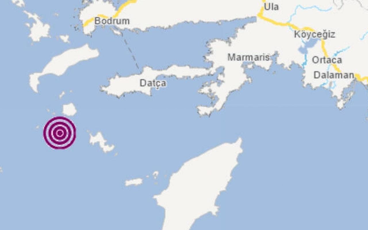 Muğla'nın Datça ilçesi açıklarında 4,0 büyüklüğünde deprem