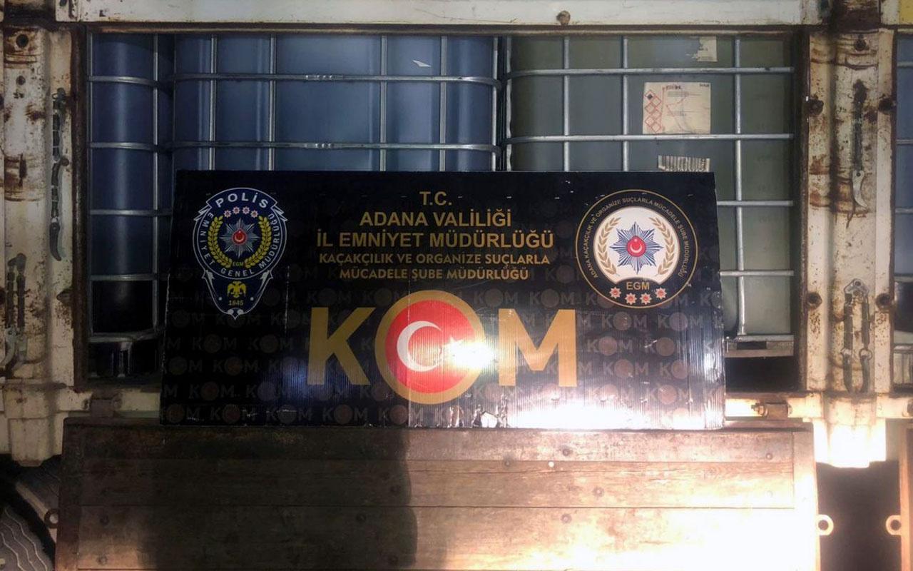 Adana'daki operasyonda 36 bin litre kaçak akaryakıta el konuldu