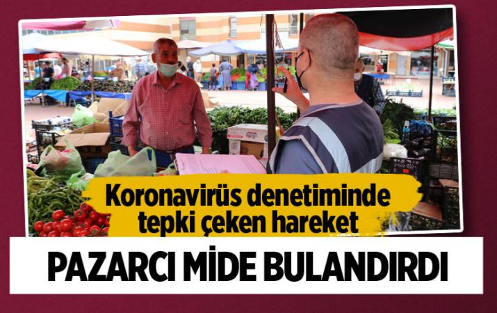Edirne Keşan'da diliyle parmaklarını ıslatarak poşetleri açan pazarcıya ceza