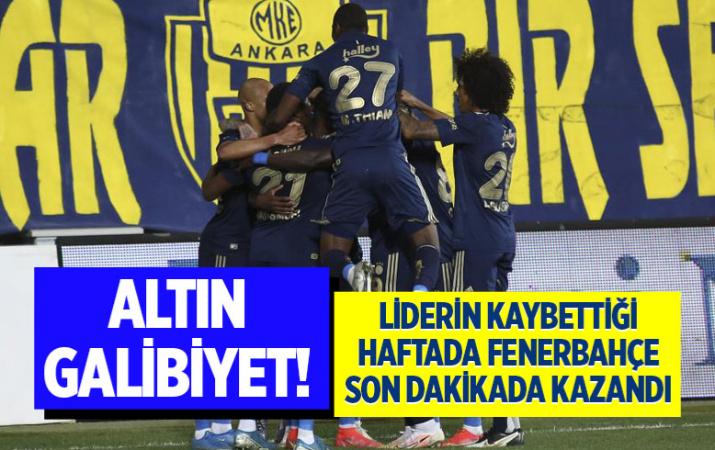 Ankaragücü-Fenerbahçe Süper Lig maç sonucu: 1-2