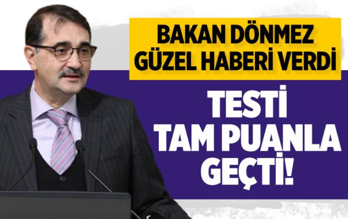 Enerji ve Tabii Kaynaklar Bakanı Fatih Dönmez: Yerli lityum sınavı 100 puanla geçti