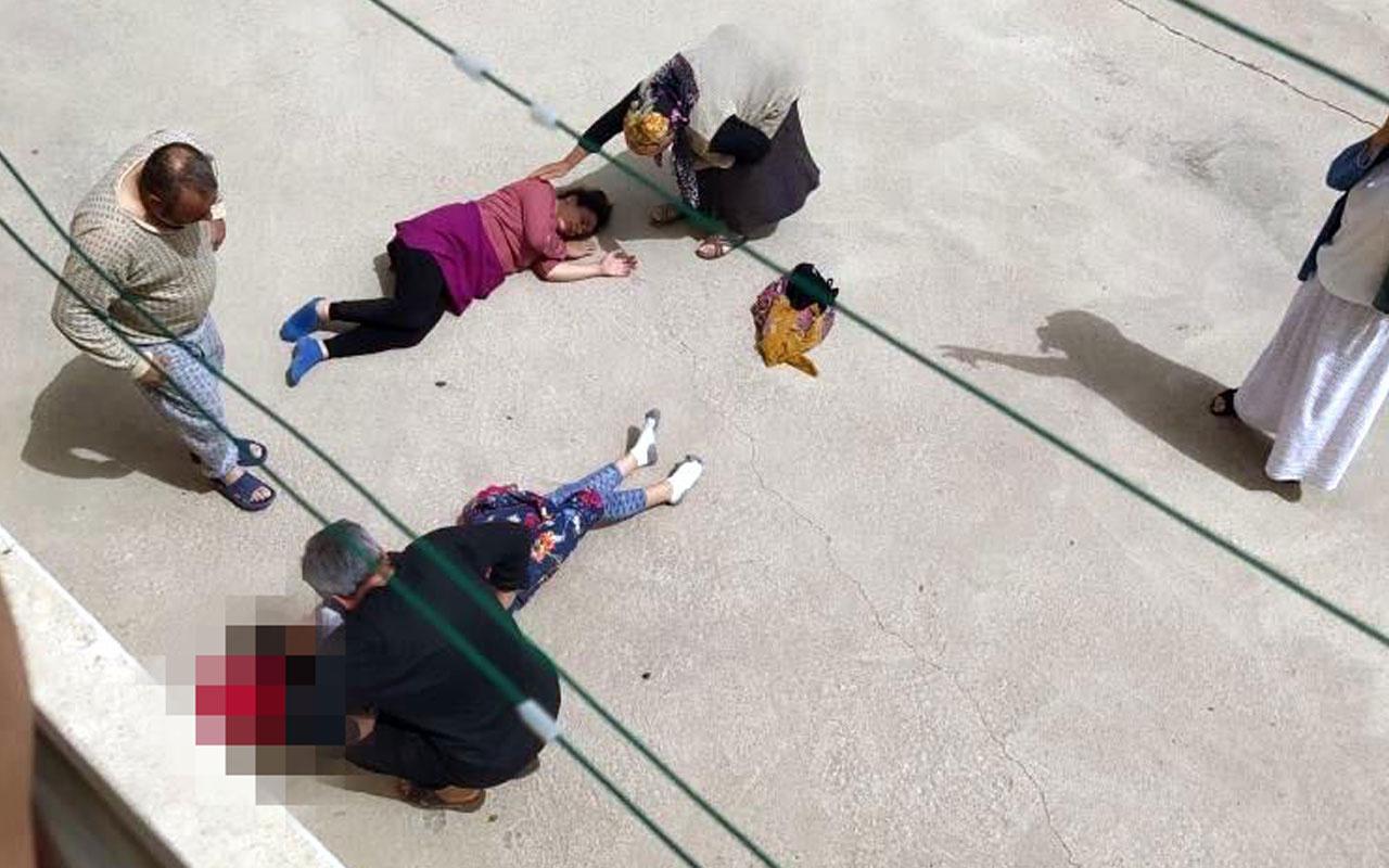 Gelin- görümce 2'nci katın balkonundan düştü