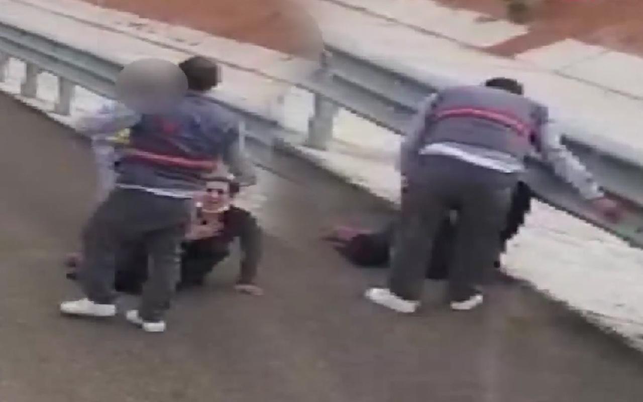 Ankara'da çocuğunun gözü önünde yaptı! Otoyolda dehşeti yaşattı