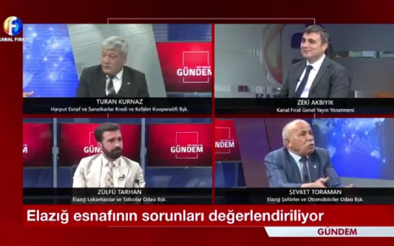 Kanal Fırat'ın canlı yayında sinkaflı küfür skandalı! Spiker şaştı kaldı