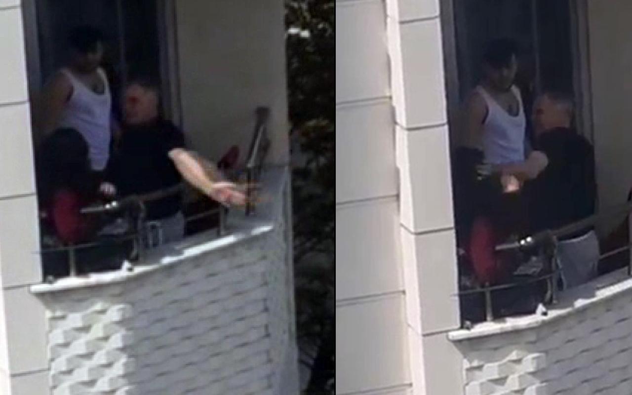 İstanbul'da Anneler Günü'nde balkonda dehşeti yaşadı! Feryat figan yardım istedi