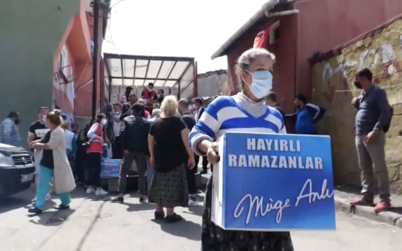 Müge Anlı, ihtiyaç sahibi 500 aileye Ramazan kolisi dağıttı